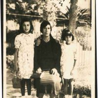 Photographer Unknown, Great-grandmother, Teodora Muscat neé Pizzuto with her two daughters, Silvia Muscat, & Bersa Bea Attard neé Muscat in Rabat