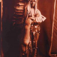 Edward  S. Curtis, Iron Breast, Piegan, Contemporary digital photograph of platinum print, Overall: 22 3/4 x 18 3/4 x 3/4 in. (57.8 x 47.6 x 1.9 cm), Collection of Art in Embassies, Washington, D.C.; Library of Congress Prints and Photographs Division, Edward S. Curtis Collection, LC-USZC4-8930