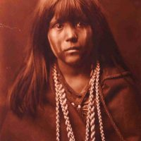 Edward  S. Curtis, Mosa, Mohave, Contemporary digital photograph of platinum print, Overall: 22 3/4 x 18 3/4 x 3/4 in. (57.8 x 47.6 x 1.9 cm), Collection of Art in Embassies, Washington, D.C.; Library of Congress Prints and Photographs Division, Edward S. Curtis Collection, LC-USZC4-8920