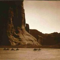 Edward  S. Curtis, Canyon de Chelly--Navajo, Overall: 17 x 19 x 1/2 in. (43.2 x 48.3 x 1.3 cm), Collection of Art in Embassies, Washington, D.C.; Library of Congress Prints and Photographs Division, Edward S. Curtis Collection; LC-USZC4-11256