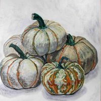 Trisha de Borchgrave, Gourds, Overall: 47 x 37 x 2 in. (119.4 x 94 x 5.1 cm), Courtesy of the artist, Bethesda, Maryland