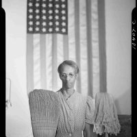 Gordon Parks, Mrs. Ella Watson, A Government Charwoman, Overall: 27 1/2 x 22 x 3/4 in. (69.9 x 55.9 x 1.9 cm) Image: 20 x 16 in. (50.8 x 40.6 cm), Collection of Art in Embassies, Washington, D.C.; Library of Congress  Prints and Photographs Division, Farm Security Administration/Office of War  Information Photograph Collection, LC-DIG-fsa-8b14845
