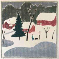 Kate Hanlon, January, Woodcut, Overall: 19 3/4 × 19 1/2in. (50.2 × 49.5cm), Courtesy of the artist, Newburyport, Massachusetts