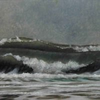Stephen Chesley, Breakers (Wave Portrait), oil on masonite, Overall: 18 x 20in. (45.7 x 50.8cm), Courtesy of the artist, Columbia, South Carolina