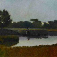 Stephen Chesley, Marsh, Slight Sky, oil on Belgian linen, Overall: 30 1/4 x 42in. (76.8 x 106.7cm), Courtesy of the artist, Columbia, South Carolina