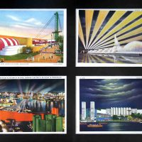 Artist Unknown, Set of four views, 1933 Century of Progress Exposition, Chicago, 14 x 17 in. (35.6 x 43.2 cm) framed, Collection of Art in Embassies, Washington, D.C.