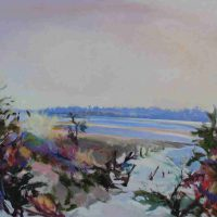 Don Resnick, Blue Mud and Eel Grass, Overall: 40 × 50in. (101.6 × 127cm)