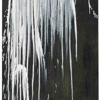 Pat Steir, Small Waterfall, Oil on canvas, 63 1/4 x 31in. (160.7 x 78.7cm), Courtesy of the artist, New York, NY