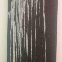 Pat Steir, Small Waterfall II, Oil on canvas, Overall: 74 x 26in. (188 x 66cm), Courtesy of the artist, New York, NY