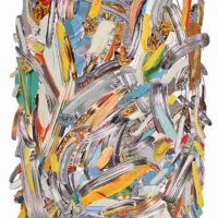 Laura J. Stein, Silver and Color, Collage, Overall: 30 × 22in. (76.2 × 55.9cm), Courtesy of the artist, New York, New York