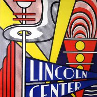 Roy Lichtenstein, Lincoln Center 4th New York Film Festival Philharmonic Hall, Overall: 45 x 29 x 1 in. (114.3 x 73.7 x 2.5 cm), Collection of Art in Embassies, Washington, D.C.; Gift of Evelyn Farland