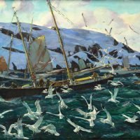 Andrew Winter, Gulls at Monhegan, Oil on canvas, Overall: 24 x 34 x 1 3/4 in. (61 x 86.4 x 4.4 cm), Collection of Art in Embassies, Washington, D.C.; Gift of the General Services Agency, Washington, D.C.