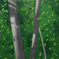 Alex Katz, Forest, Color aquatint, Image: 29 x 66 in.  (73.7 x 167.6 cm); framed: 44 1/2 x 81 x 1 in.  (113.0 x 205.7 x 2.5 cm), Courtesy of the Foundation of Art and Preservation in Embassies, Washington, D.C.