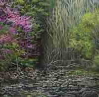 Ruthanne Kah, Redbuds, Oil and linen on panel, Overall: 16 × 19in. (40.6 × 48.3cm), Courtesy of the artist, Asheville, North Carolina