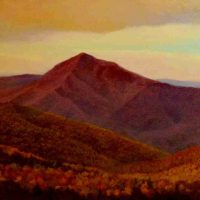 John Mac Kah, Cold Mountain Evening, Oil on canvas, Overall: 18 × 30in. (45.7 × 76.2cm), Courtesy of the artist, Asheville, North Carolina