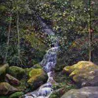 John Mac Kah, Mouse Creek, Oil on panel, Overall: 22 × 27in. (55.9 × 68.6cm), Courtesy of the artist, Asheville, North Carolina