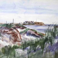 Reginald Marsh, Shelter Island, Watercolor, Overall: 20 1/2 x 26 1/2 x 1 in. (52.1 x 67.3 x 2.5 cm), Collection of Art in Embassies, Washington, D.C.; Gift of William Benton