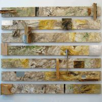 Mary Walker, Constructed Landscape, Mixed media, Each part, of 7: 5 3/4 × 60 in. (14.6 × 152.4 cm); Overall, installed: 55 × 62 × 5 in. (139.7 × 157.5 × 12.7 cm), Courtesy of the artist, Baltimore, Maryland