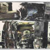 Robert Rauschenberg, Bilbao Scraps [Anagram (A Pun)], Inkjet dye transfer on polylaminate, Overall: 62 1/4 x 123 5/8in. (158.1 x 314cm), Art © Robert Rauschenberg Foundation/Licensed by VAGA,