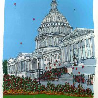 Susan Pear Meisel, The Capitol, Screenprint, Overall: 32 x 26 1/2 x 1 1/2 in. (81.3 x 67.3 x 3.8 cm), Collection of Art in Embassies, Washington, D.C.; Gift of Allen Brill