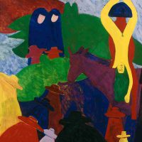 Bob Thompson, The Procession, 1963-1964, Oil on canvas, Overall: 50 × 38in. (127 × 96.5cm), Courtesy of The Art Institute of Chicago, Gift of Mrs and Mrs. Stanley M. Freehling