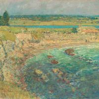 Childe Hassam, Bailey's Beach, Newport,  R.I., 1901, Oil on canvas, Overall: 33 3/8 × 35 1/2in. (84.8 × 90.2cm), Courtesy of The Art Institute of Chicago, Walter H. Schulze Memorial Collection