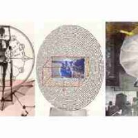 Robert Rauschenberg, Visual Autobiography, Offset lithograph, Each of 3 panels: 72 x 54 1/2 x 2 in. (182.9 x 138.4 x 5.1 cm), Collection of Art in Embassies, Washington, D.C.; Gift of Marian B. Javits