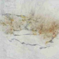 Ray Kass, Reed Grass, Smoke& Water, 03-31-2017, 2017, water media, smoke, oil emulsion, graphite&pigment on rag paper under shaved beeswax, Overall: 27 × 33 1/2 × 2 1/4in. (68.6 × 85.1 × 5.7cm), Courtesy of the artist and Reynolds Gallery