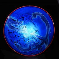 Josh Simpson, New Mexico Disk 1.2.19, Glass, Overall: 21 1/2in. diam., 8lb. (54.6cm, 3.6kg), Courtesy of the artist, Shelburne, Massachusetts