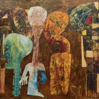 Tafadzwa Gwetai, Modern Man, Overall: 37 × 37in. (94 × 94cm), ART IN EMBASSIES, US DEPARTMENT OF STATE, PERMANENT COLLECTION