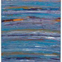 Elizabeth Hack, Wave X2, Acrylic and ink on canvas, Overall: 40 × 30 in. (101.6 × 76.2 cm), Courtesy of the artist, Lafayette, California