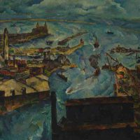 William Schwartz, Chicago Harbor, 1931, Oil on canvas, Overall: 35 × 40 3/4in. (88.9 × 103.5cm), Courtesy of The Art Institute of Chicago, Anonymous gift