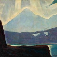 Rockwell Kent, Alaska, 1919-1927, Oil on canvas, Overall: 32 3/4 × 38 3/4in. (83.2 × 98.4cm), Courtesy of The Art Institute of Chicago, Gift of Madame Felipe Espil
