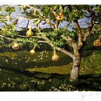 Jamie Wyeth, The Gourd Tree, Silkscreen, Overall: 38 1/4 x 34 1/2 x 1 1/2 in. (97.2 x 87.6 x 3.8 cm), Collection of Art in Embassies, Washington, D.C.; Gift of Lincoln Center / Vera List Art Program