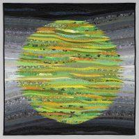 Ann Brauer, Green Circle, Quilt, Overall: 40 × 40in. (101.6 × 101.6cm), Courtesy of the artist, Shelburne Falls, Massachusetts