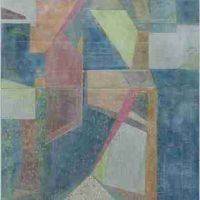 Whitney Nye, Mettle, Paper and oil on wood panel, Overall: 57 1/2 × 47 1/2in. (146.1 × 120.7cm), Courtesy of the artist, Portland, Oregon