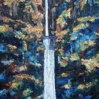 Karen Cruickshank, Multnomah Falls II, Oil on canvas, Overall: 72 × 48in. (182.9 × 121.9cm), Courtesy of the artist, Portland, Oregon