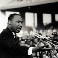 Photographer Unknown, Reverend Martin Luther King Jr., Black and white photograph, Overall: 12 1/2 x 15 x 1 1/4 in. (31.8 x 38.1 x 3.2 cm), Collection of Art in Embassies, Washington, D.C.