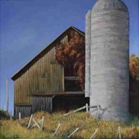 Kevin H. Adams, Rudasill Mill Barn, Oil on canvas, Overall: 24 × 24in. (61 × 61cm), Courtesy of the artist, Washington, Virginia