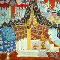 Olazone Soukpatumvane, Fafanang, Acrylic on canvas, 80 x 120 cm