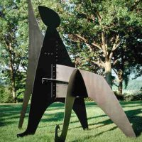 Alexander Calder, Sabot, Sheet metal, bolts, and paint, Overall: 144 x 132 x 72 in. (365.8 x 335.3 x 182.9 cm), Courtesy of the Calder Foundation, New York, New York