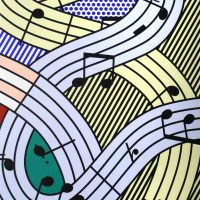 Roy Lichtenstein, Composition III, Silkscreen on paper, Overall: 54 × 39in. (137.2 × 99.1cm), Gift of the artist, courtesy of the Foundation of Art and Preservation in Embassies, Washington, D.C.