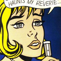 Roy Lichtenstein, Reverie, Offset lithograph, Overall: 35 1/4 x 30 1/4 x 1 1/4 in. (89.5 x 76.8 x 3.2 cm), Collection of Art in Embassies, Washington, D.C.; Gift of Phillip Morris Companies, Inc.