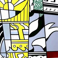 Roy Lichtenstein, Bicentennial Print, Lithograph & screenprint on paper, 38 3/4 x 30 3/4 x 1 1/4 in. (98.4 x 78.1 x 3.2 cm), Collection of Art in Embassies, Washington, D.C.; Gift of The Mobil Corporation