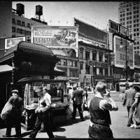 Berenice Abbott, Union Square, Contemporary archival print from 1936 silver gelatin photograph, Overall: 8 x 10in. (20.3 x 25.4cm), Collection of Art in Embassies, Washington, D.C.; Courtesy of Brooklyn Museum Collection X858.87