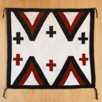 D.Y. Begay, Four Peaks, Yarn, Overall: 27 x 30in. (68.6 x 76.2cm), Courtesy of the artist, Santa Fe, New Mexico