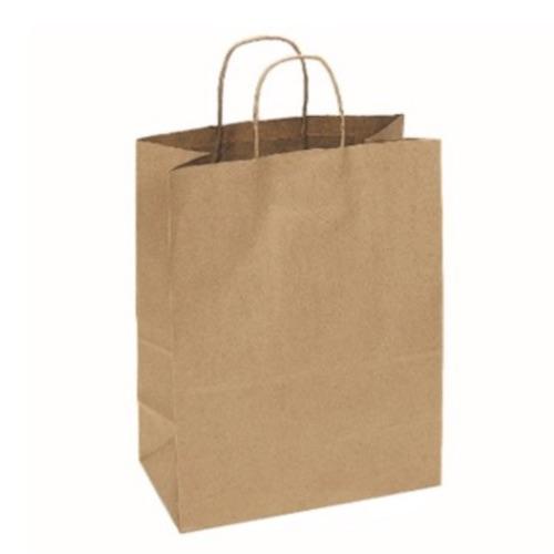Duro Bistro Kraft Bag w:Twist Handle 60# 10 in x 6.75 in x 12 in