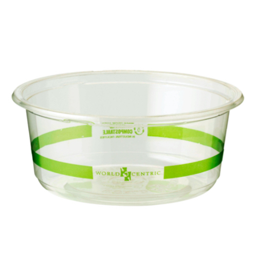 World Centric PLA Clear Round Deli Container - 12 oz - DC-CS-12