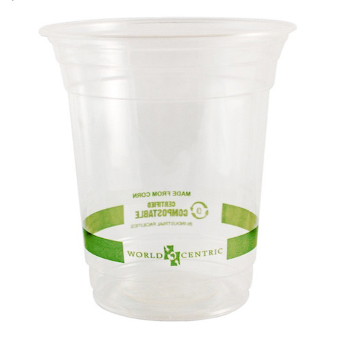 World Centric PLA Clear Cold Cup - 12 oz - CP-CS-12