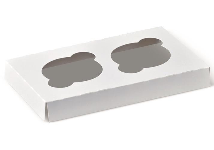 Cupcake-Insert-White-Kraft-Standard-2-Cup-8-in-x-4-in